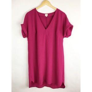 A New Day | XL | Tunic Dress | Pink | Short Sleeve